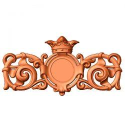 Crown pattern file stl free vector art 3d model download for CNC
