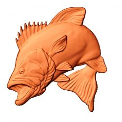 Predatory fish file stl free vector art 3d model download for CNC
