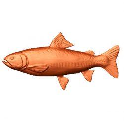 Salmon fish file stl free vector art 3d model download for CNC