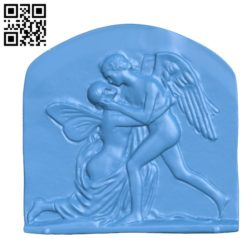 Cast of Cupid and Psyche file stl for Artcam and Aspire free vector art 3d model download for CNC