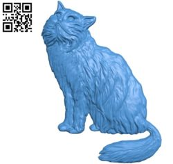 Cat file stl for Artcam and Aspire free vector art 3d model download for CNC