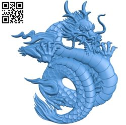Chinese dragon Eastern file STL for Artcam and Aspire free vector art 3d model download for CNC