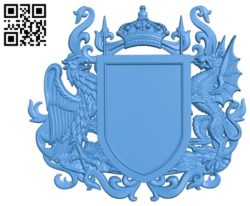 Coat of arms Family file STL for Artcam and Aspire free vector art 3d model download for CNC