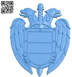 Coat of arms of the FSO file STL for Artcam and Aspire free vector art 3d model download for CNC
