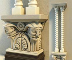 Pillar pattern design A000451 file FBX free vector art 3d model download
