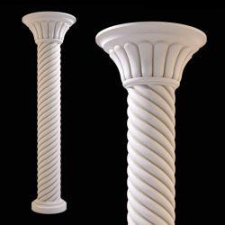 Pillar pattern design A000493 file FBX free vector art 3d model download