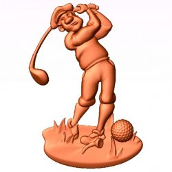 The man is playing golf file 3dClip free vector art 3d model download for CNC