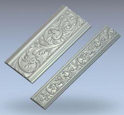 Baguette pattern wood carving file stl for Artcam and Aspire jdpaint free vector art 3d model download for CNC