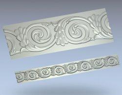 Baguette wood carving file stl for Artcam and Aspire jdpaint free vector art 3d model download for CNC