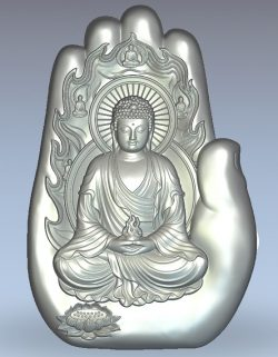 Buddha hand wood carving file stl for Artcam and Aspire jdpaint free vector art 3d model download for CNC