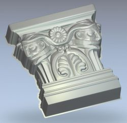 Capital with masks wood carving file RLF for Artcam 9 and Aspire free vector art 3d model download for CNC