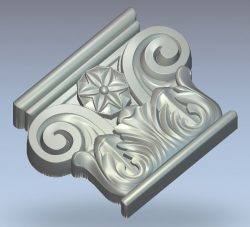 Capital with volutes wood carving file stl for Artcam and Aspire jdpaint free vector art 3d model download for CNC