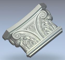 Corinthian capital wood carving file stl for Artcam and Aspire jdpaint free vector art 3d model download for CNC