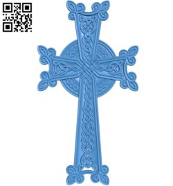 Cross Khachkar file STL for Artcam and Aspire free vector art 3d model download for CNC