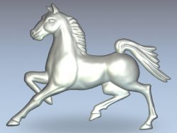 Dark horse file RLF for Artcam 9 and Aspire free vector art 3d model download for CNC wood carving