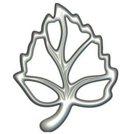 Decor Leaf shape wood carving file RLF for Artcam 9 and Aspire free vector art 3d model download for CNC