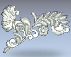 Decor leaf shape wood carving file stl for Artcam and Aspire jdpaint free vector art 3d model download for CNC