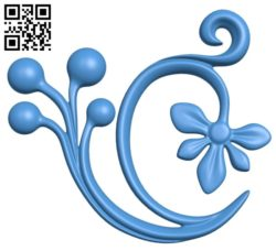 Decor with berries Wood carving file STL for Artcam and Aspire free vector art 3d model download for CNC