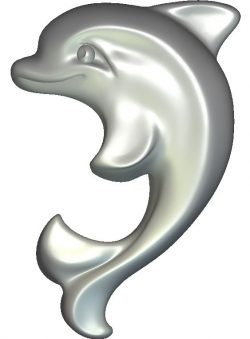 Dolphin file RLF for Artcam 9 and Aspire free vector art 3d model download for CNC wood carving