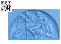 Cupid and Bacchus Wood carving file STL for Artcam and Aspire free vector art 3d model download for CNC