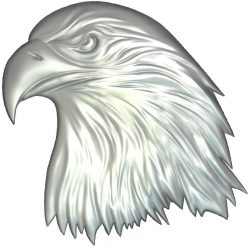 Eagle head flying file RLF for Artcam 9 and Aspire free vector art 3d model download for CNC wood carving