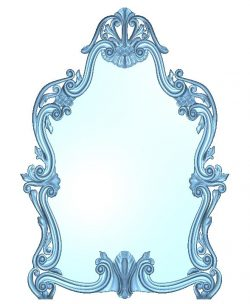 Frame for mirror wood carving file RLF for Artcam 9 and Aspire free vector art 3d model download for CNC