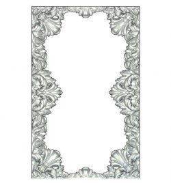 Frame with floral ornaments wood carving file RLF for Artcam 9 and Aspire free vector art 3d model download for CNC