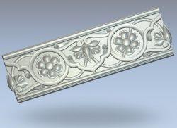 Frieze pattern wood carving file stl for Artcam and Aspire jdpaint free vector art 3d model download for CNC