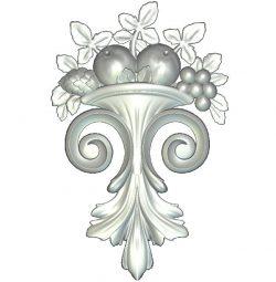 Fruit Vase Ornament wood carving file RLF for Artcam 9 and Aspire free vector art 3d model download for CNC