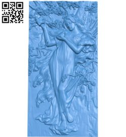 Girl in the garden A000783 wood carving file stl for Artcam and Aspire free art 3d model download for CNC