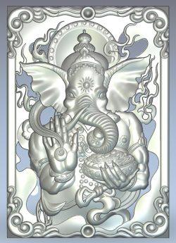 God elephant ganesha wood carving file stl for Artcam and Aspire jdpaint free vector art 3d model download for CNC