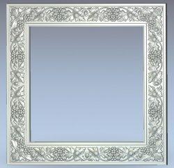 Grape frame wood carving file stl for Artcam and Aspire jdpaint free vector art 3d model download for CNC