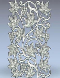 Grape leaf pattern wood carving file stl for Artcam and Aspire jdpaint free vector art 3d model download for CNC