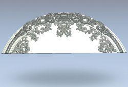 Headboard arc shape wood carving file stl for Artcam and Aspire jdpaint free vector art 3d model download for CNC