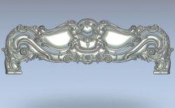 Headboard bed wood carving file stl for Artcam and Aspire jdpaint free vector art 3d model download for CNC