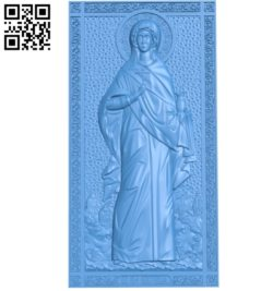 Holy Martyr Anastasia A000778 wood carving file stl for Artcam and Aspire free art 3d model download for CNC