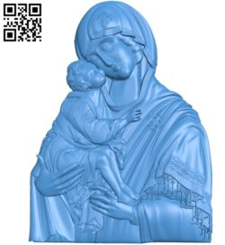 Holy Mother of God Don A000770 wood carving file stl for Artcam and Aspire free art 3d model download for CNC