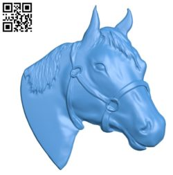 Horse head A000766 wood carving file stl for Artcam and Aspire free art 3d model download for CNC