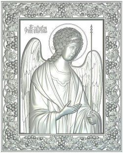 Icon Archangel Michael wood carving file RLF for Artcam 9 and Aspire free vector art 3d model download for CNC