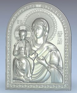 Icon of the Mother of God Three handed wood carving file stl for Artcam and Aspire jdpaint free vector art 3d model download for CNC