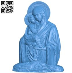 Icon of the Virgin Pochaev without salary A000764 wood carving file stl for Artcam and Aspire free art 3d model download for CNC