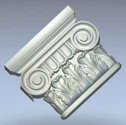 Ionian Capital wood carving file stl for Artcam and Aspire jdpaint free vector art 3d model download for CNC