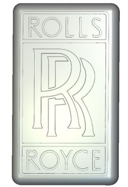 Keychain rolls royce file RLF for Artcam 9 and Aspire free vector art 3d model download for CNC wood carving