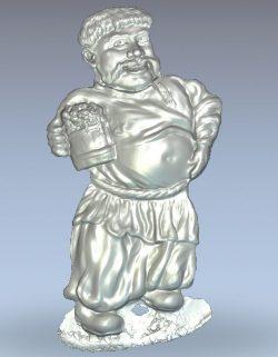 Lad wood carving file stl for Artcam and Aspire jdpaint free vector art 3d model download for CNC