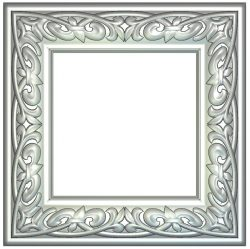 Leaf picture frame Wood carving file RLF for Artcam 9 and Aspire free vector art 3d model download for CNC