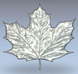 Maple Leaf wood carving file stl for Artcam and Aspire jdpaint free vector art 3d model download for CNC