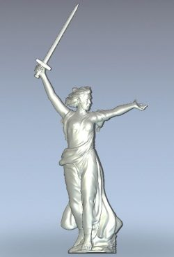 Monument Motherland is calling wood carving file stl for Artcam and Aspire jdpaint free vector art 3d model download for CNC