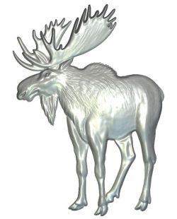 Moose elk herd wood carving file RLF for Artcam 9 and Aspire free vector art 3d model download for CNC