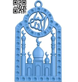 Necklace Muslim Ladakh A000771 wood carving file stl for Artcam and Aspire free art 3d model download for CNC