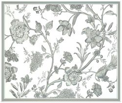 Panel Flowers wood carving file RLF for Artcam 9 and Aspire free vector art 3d model download for CNC